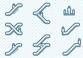 Rolltreppe Icons