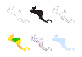 Centralamerika Karta Vector