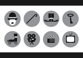 Charlie Chaplin Icon Vektor