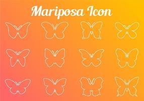 Stroke Linie Schmetterling Icon vektor
