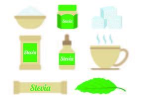 Uppsättning Stevia Sugar vektorer
