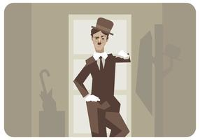 Charlie Chaplin Standing Vektor