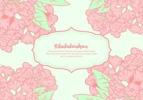 Rhododendron Hintergrund vektor