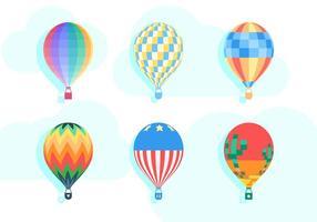 Freie einzigartige Heißluft-Ballon-Vektoren