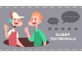 Client Testimonial vektor