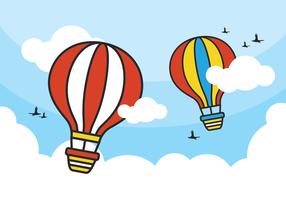 Bunte Heißluft-Ballon-Vektoren
