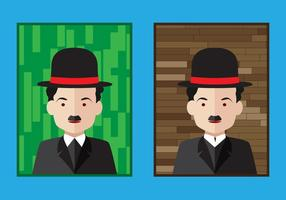 Charlie Chaplin-Porträt Vektoren