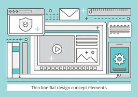 Freie Wohnung Design Vector Illustration