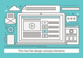 Gratis linjär vektor designillustration