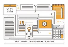 Freie Wohnung Linear Vector Digital Media Illustration