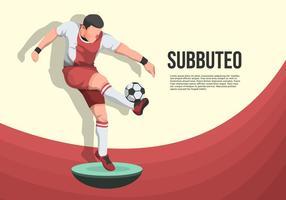 Subbuteo-Vektor Hintergrund Illustration vektor