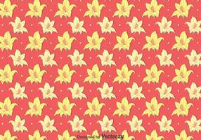 Gelbe Rhododendron-Blumen-Muster vektor