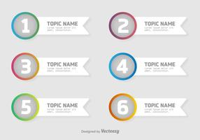 Vector Schritt für Schritt Infografik