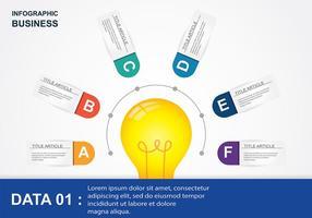 Ampoule Infografik Vektor