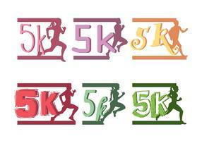 5k Marathon vektor