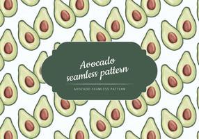 Vector Hand Drawn Avocado-Muster
