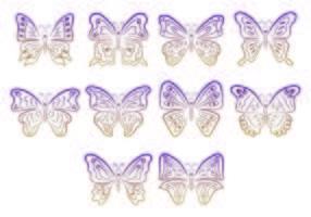 Set Mariposa Symbole vektor