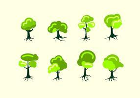 Baum mit Wurzeln Free Vector