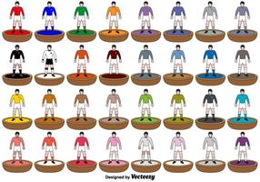 Subbuteo Players ikoner - Vector