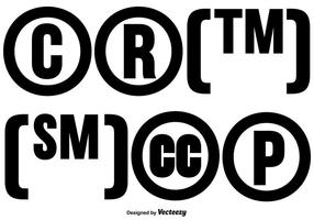 6 Vector Copyright Symbol Sammlung