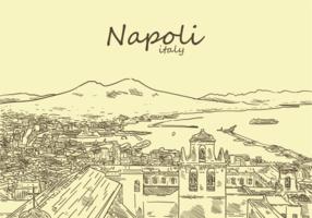 Gratis handdragen Napoli vektorer