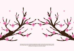 Zweige Rosa Blumen vektor