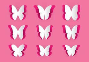 Papier schneiden Schmetterling Vektor Pack