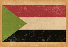 Grunge Flagge des Sudan