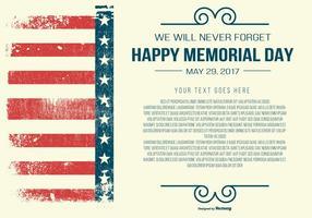 Memorial Day Vorlage vektor