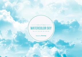 Akvarell himmel bakgrund vektor