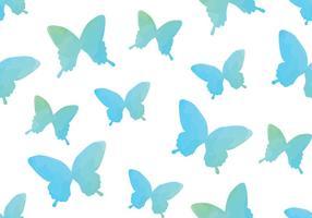 Aquarell-Aquarell-Schmetterlings-nahtloses Muster vektor
