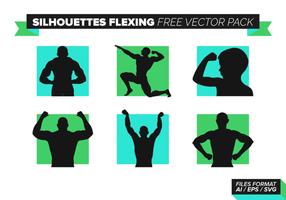 Silhouetten Flexing Free Vector Pack