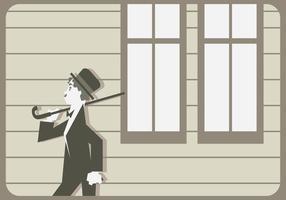 Charlie Chaplin Walking Vektor