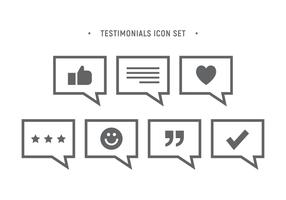 Testimonials Icon-Set vektor