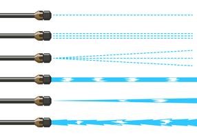 Starker Wasserstrahl-Maschinenvektor