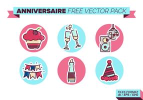 Anniversaire kostenlos vektor pack