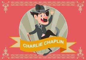 Illustration von Charlie Chaplin Tanzen Vektor