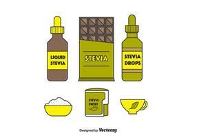 Stevia Produkt-Vektor-Set vektor