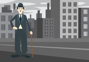Charlie Chaplin Vektor Hintergrund