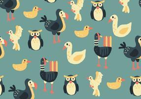Buntes Muster mit Vögeln