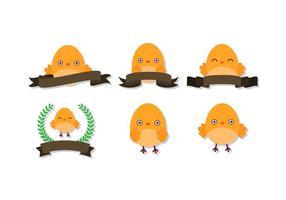 Söt påsk Chick vektorer