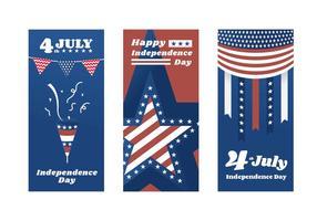 Unabhängigkeitstag Poster Vektoren