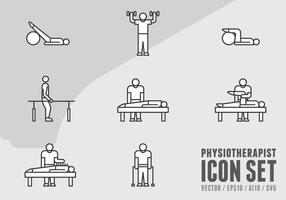 Sjukgymnastik ikoner vektor