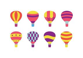Varmluftsballongvektorpaket