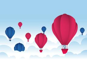 Heißluftballon-Festival-Vektor vektor