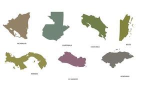 Centralamerika Karta vektor