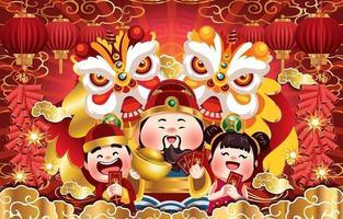 glückliches chinesisches Neujahrsfestgrußkonzept vektor