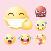 sociala medier emoji uppsättning