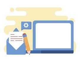 digitales Kommunikationskonzept per E-Mail vektor
