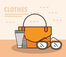 Unisex Kleidung und Accessoires einfache Komposition